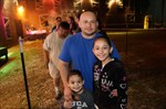 Family waiting in line at Haunted House.