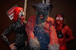 Crazy wolf and zombie girls.