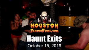 We strapped a GoPro to our Exit Greeter to capture the reactions of people as they run screaming out of the haunt.